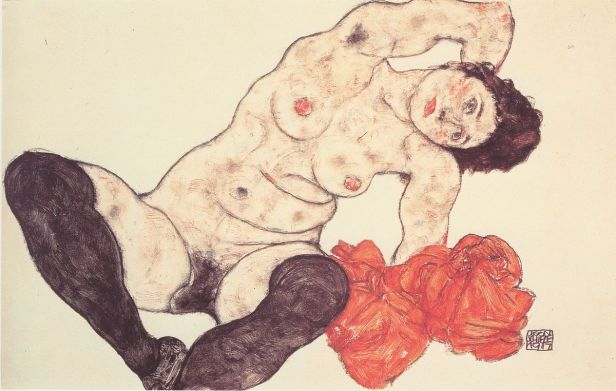 "Egon Schiele, ""Sitting Girl,"" 1917"